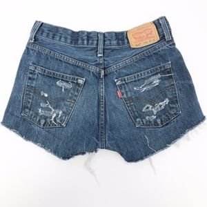 levi's | vintage 514 high waisted mom jean shorts